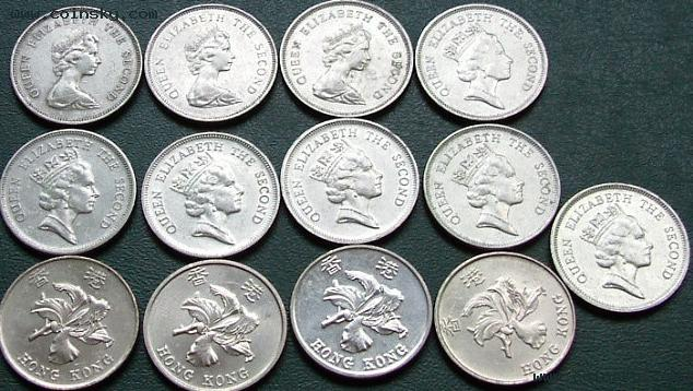 香港硬币小超市 香港一元硬币齐全
