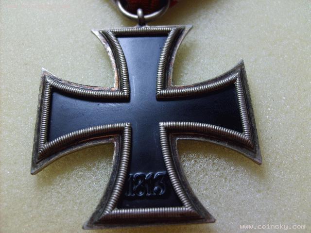 [预订] 保真德国纳粹二战铁十字好品相银勋章