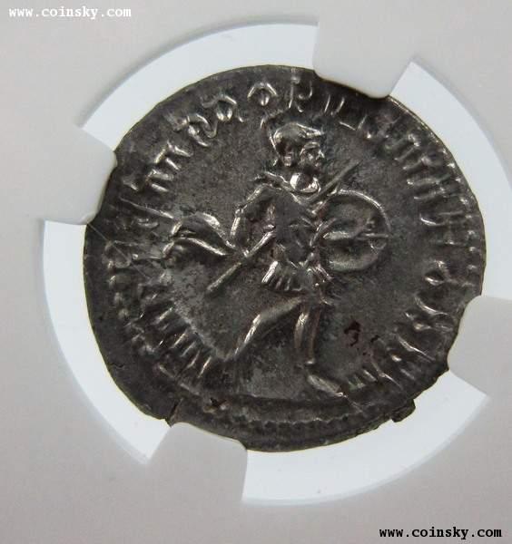 古罗马戈尔迪安三世银币,NGC评级近未流通