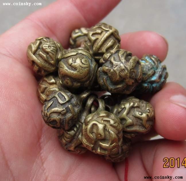 清代金鱼铜疙瘩【扣】20颗
