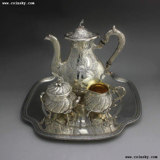 386克欧洲纯银功夫茶具托盘图片