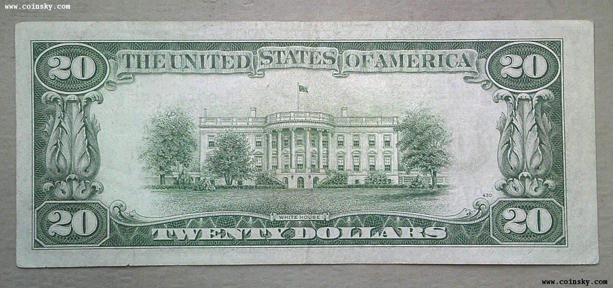 美国1934年20美元纸币