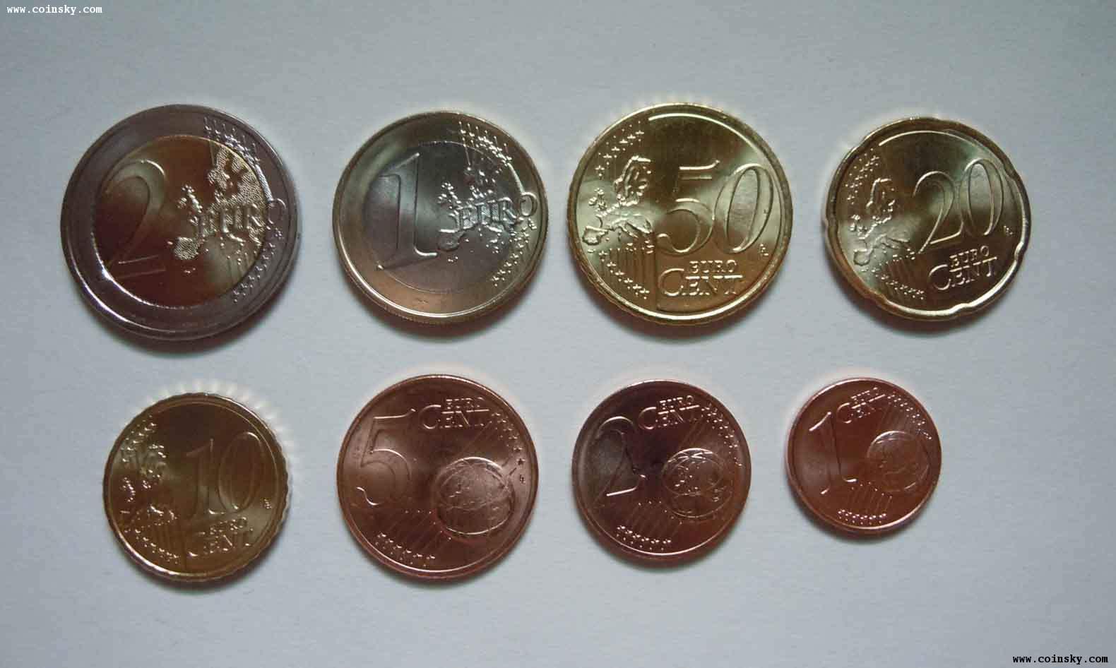 [预订] 奥地利2011年新版欧元unc set(未使用)图片