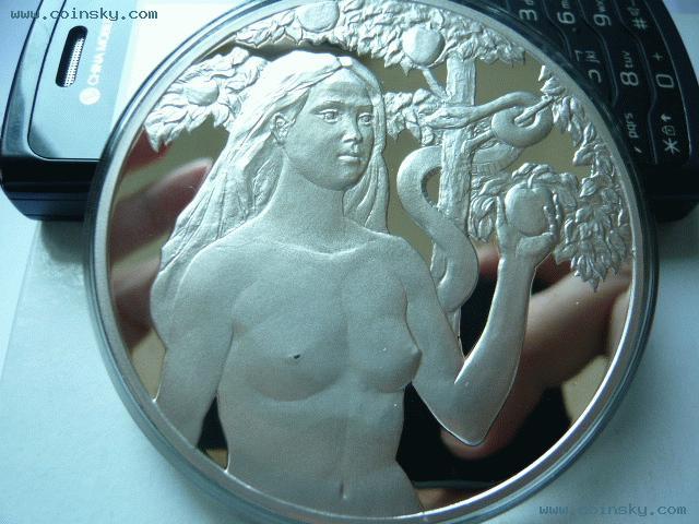 日本5盎司裸体美女纪念银章