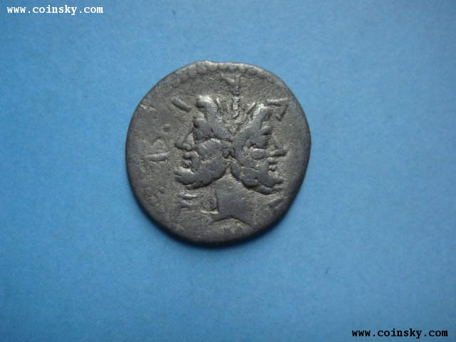 古罗马共和时期双面神第纳尔银币