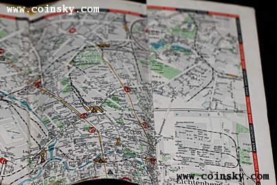 原版德国1936年柏林奥运会场馆地图