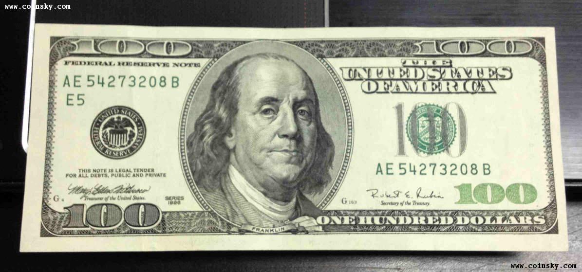 美元纸币一些详细