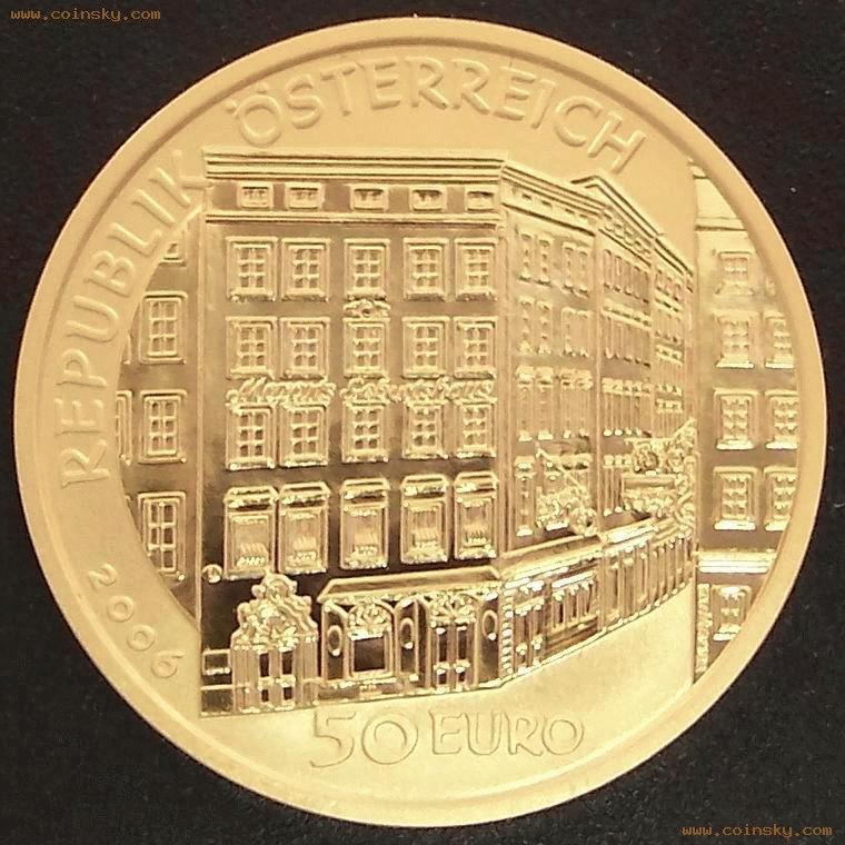 [已售] 奥地利2006年莫扎特父子50欧元精制纪念金币图片