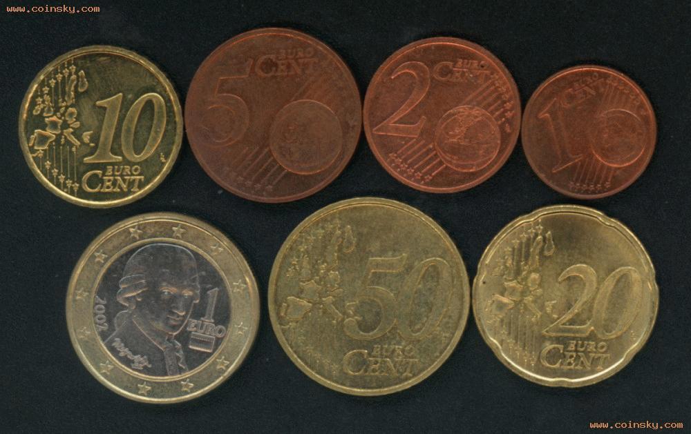 [已售] 奥地利欧元7枚图片