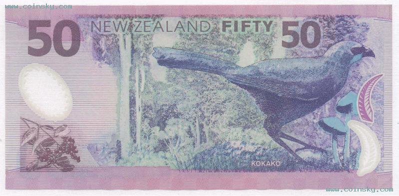 低于汇率:新西兰50元塑料钞