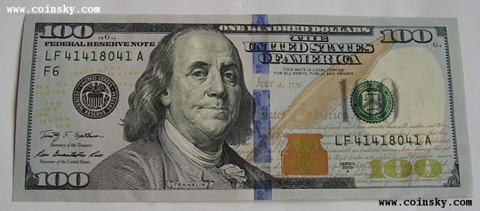 新版100美元纸币